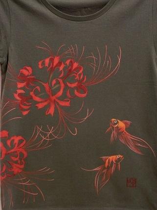 ヒガンバナと金魚 Tシャツ 20128181