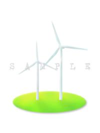 エコでナチュラルな自然イラスト素材 風力発電のイラスト