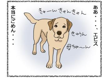 羊の国のラブラドール絵日記シニア!!4コマ漫画「今日は特別なの!」2