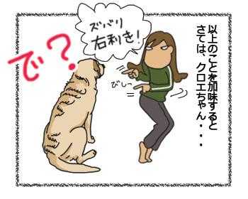 羊の国のラブラドール絵日記シニア!!犬4コマ漫画「ズバリ!・・・?」4