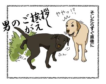 羊の国のラブラドール絵日記シニア!! 上書きの上書き4コマ犬漫画2