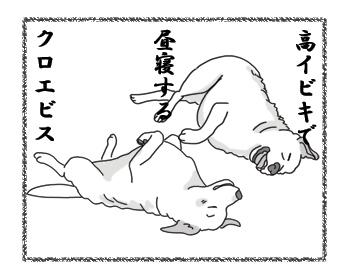 羊の国のラブラドール絵日記シニア!! ブログ漫画「引っ越し当日」2