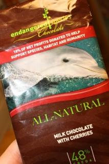 Endangered Species Chocolate, Milk Chocolate with Cherries, 3 oz (85 g)