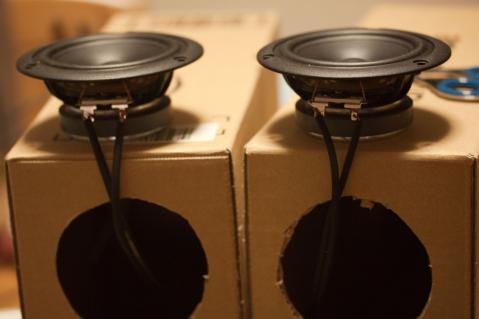 段ボールスピーカー Stereo八月号 付録ユニット 4