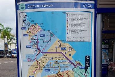 ケアンズ・サンバス路線図
