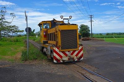 ケアンズのシュガートレイン機関車