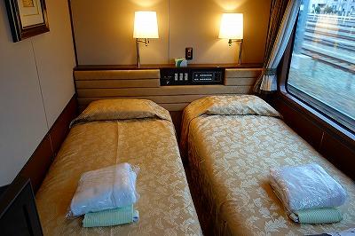 トワイライトエクスプレス・スイートのベッド