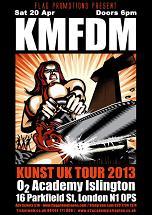 KMFDM KUNST UK TOUR 2013