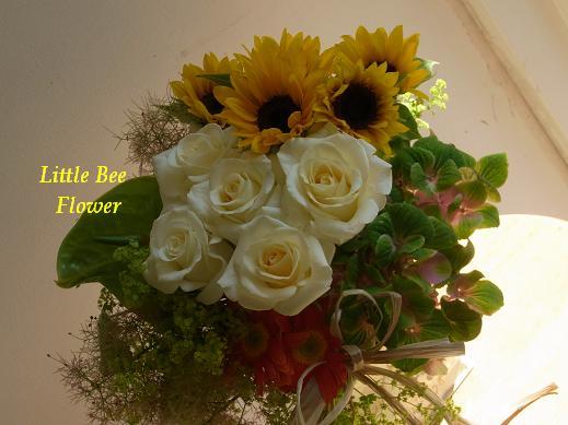 花とタイルとリース