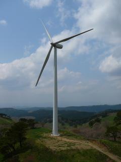 里美牧場の風力発電