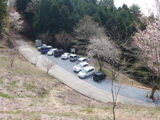 沓掛峠の駐車場