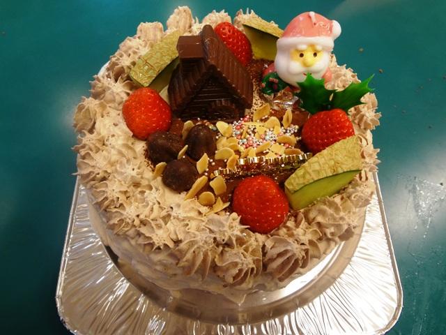 完成したクリスマスケーキ