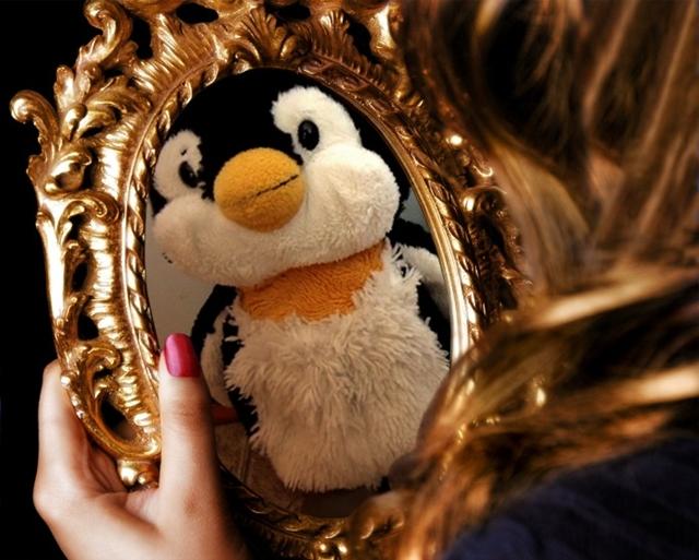 鏡の中の美女