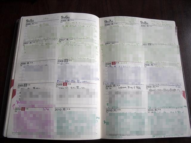 5年日記 中身