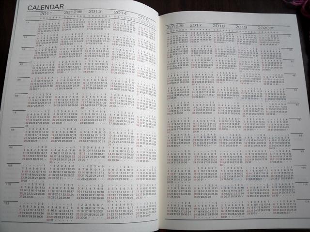 カレンダー10年分