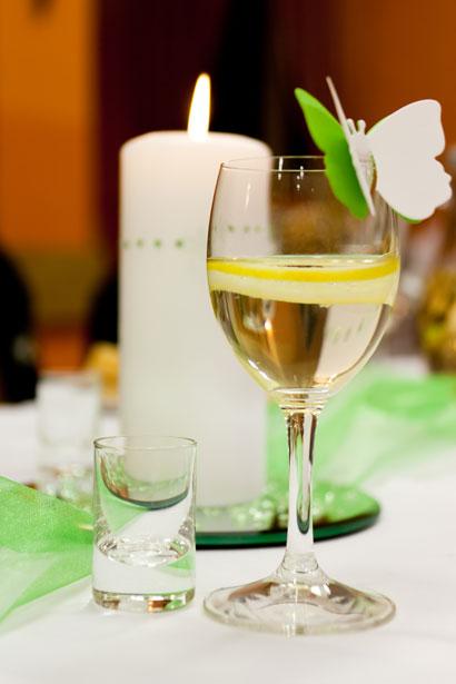 ワインとキャンドル