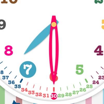 時計の針の影