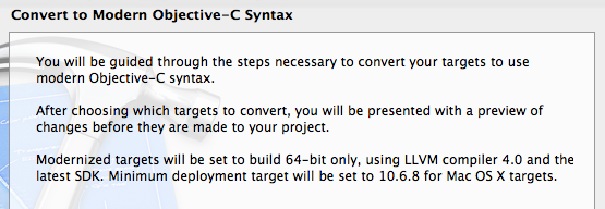 Convert to Modern Objective-C Syntax