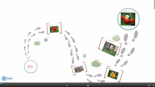 これが全体画面です。右往左往の足跡だらけ!