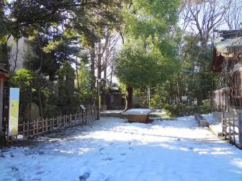 雪の新田神社