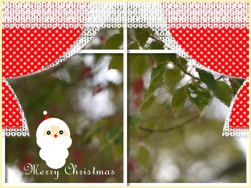 クリスマスっぽい雰囲気に加工。
