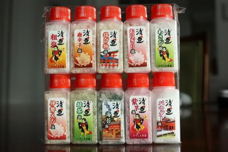 広島。「清盛」印の塩セット