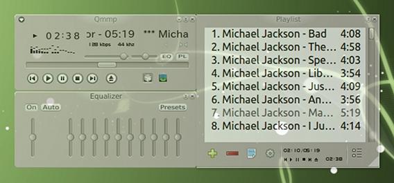 Qmmp Ubuntu 音楽プレイヤー パーツの並び替え