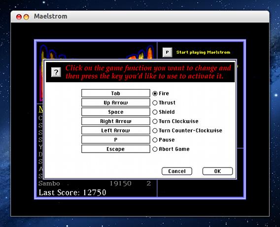 Maelstrom Ubuntu ゲーム 操作方法