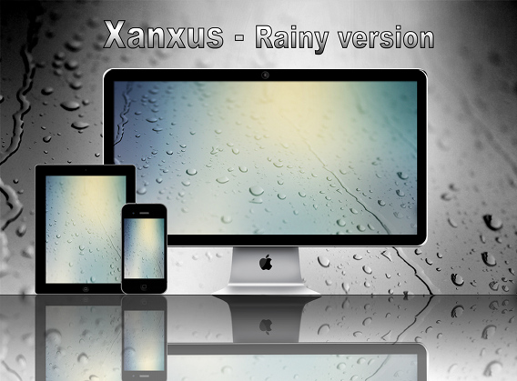 Ubuntu 壁紙 Xanxus-Rainy version