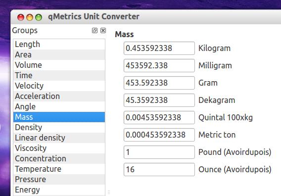 qMetrics Unit Converter Ubuntu 単位変換 使い方
