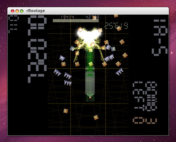 rRootage for Linux Ubuntu シューティングゲーム