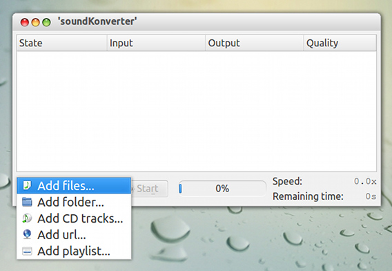 soundKonverter Ubuntu 音楽ファイル変換
