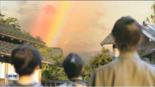 あっ!見なんしょ・・虹が!