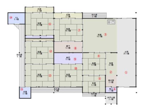 平面図(現状・番号付き)
